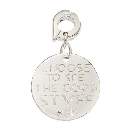 Nikki Lissoni See The Good Stuff Silver Plated 20mm Charm