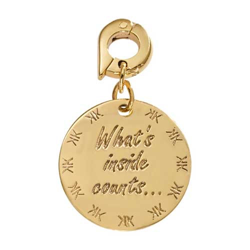 Nikki Lissoni Whats Inside Counts Gold Plated 20mm Charm/Pendant