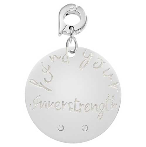 Nikki Lissoni Find Your Strength Silver Plated Charm 25mm Charm