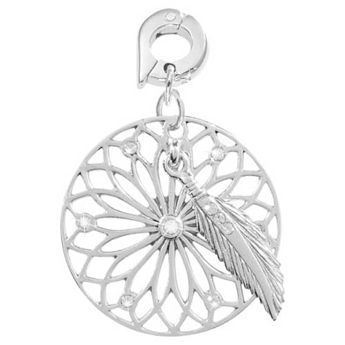 Nikki Lissoni Dream Catcher Silver Plated 25mm Charm/Pendant
