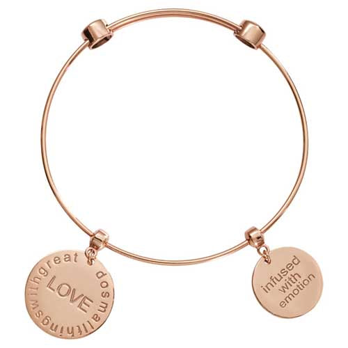 Nikki Lissoni Do Small Things Rose Gold Plated Bangle 21cm