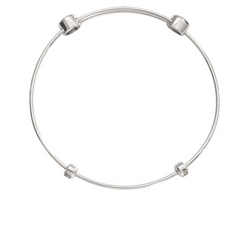 Nikki Lissoni Silver Plated Plain Bangle 17cm