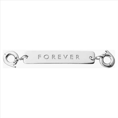 Nikki Lissoni Forever Silver Plated Two Lock Tag