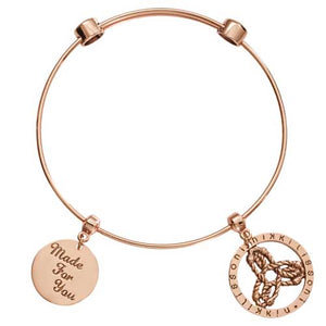 Nikki Lissoni Innerstrength Rose Gold Plated Bangle 21cm
