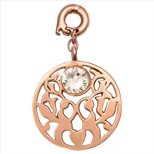 Nikki Lissoni Vintage Flower Rose Gold Plated 25mm Charm/Pendant
