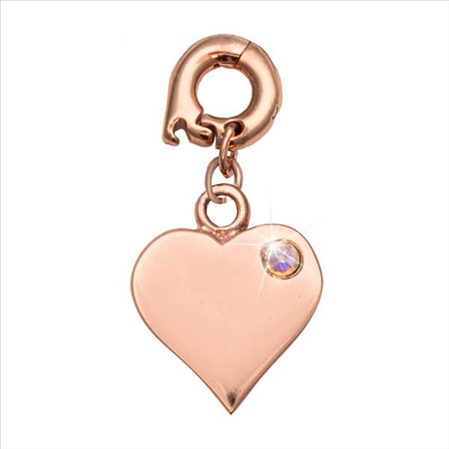 Nikki Lissoni Love It Is Rose Gold Plated Charm/Pendant 15mm