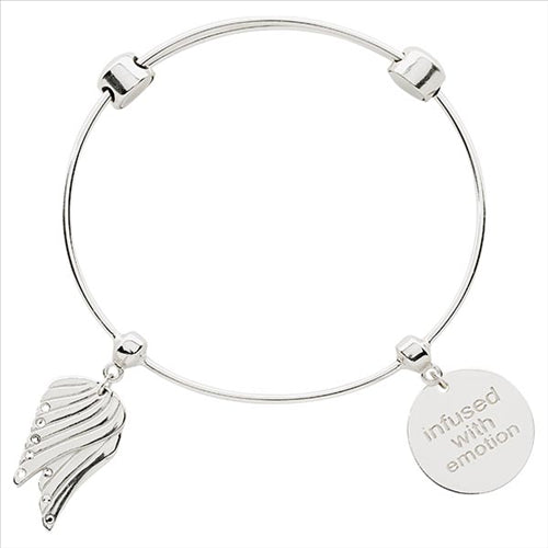 Nikki Lissoniangel Wings Bangle Silver Plated 17cm