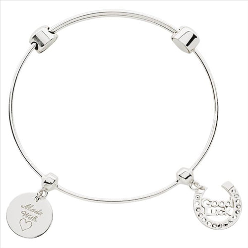 Nikki Lissoni Good Luck Bangle Silver Plated 19cm