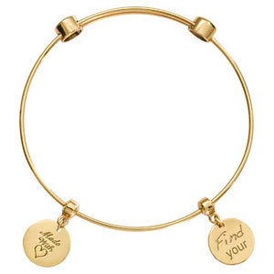 Nikki Lissoni Gold Plated Bangle Find Your Strength 21cm