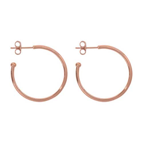 Nikki Lissoni Rose Gold Plated 28mm Hoops