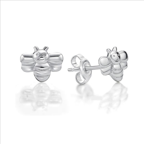 Sterling Silver Bumble Bee Stud Earings