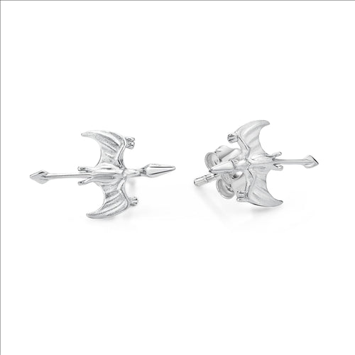Sterling Silver Dragon Stud Earings