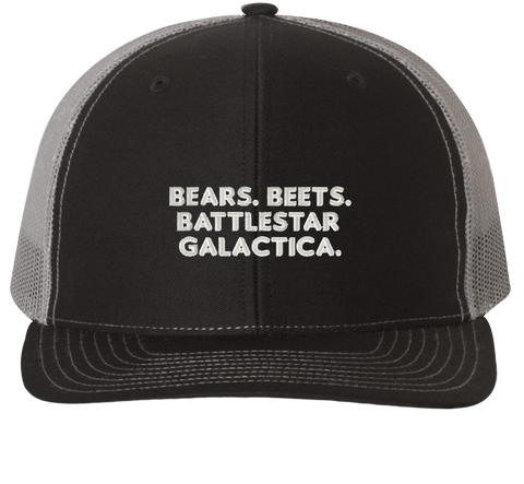 Bears, Beets, Battlestar Galactica Trucker Hat - The Office Hats - HatHub