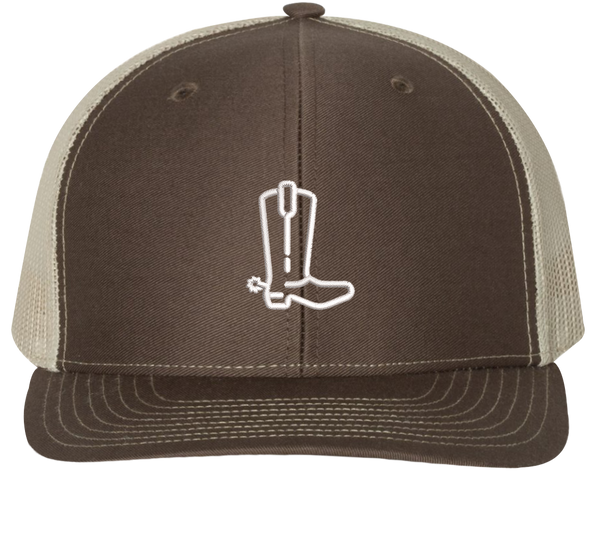 Cowboy Boot Trucker Hat