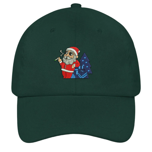 Smoking Santa Ugly Christmas Dad Hat