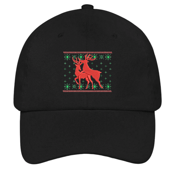 Naughty Reindeer Dad Hat