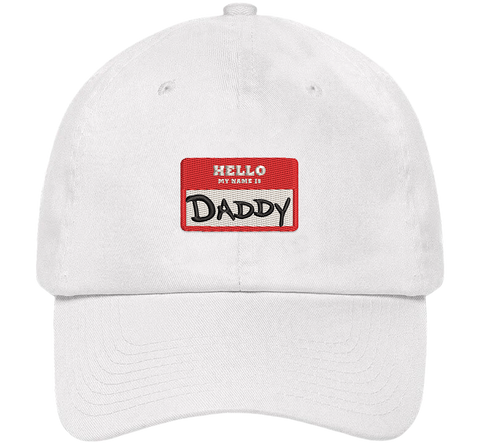 Hello My Name Is Daddy Dad Hat - HatHub