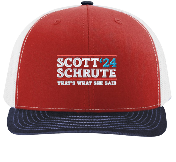 Scott Schrute '24 Trucker Hat | The Office Hats - HatHub