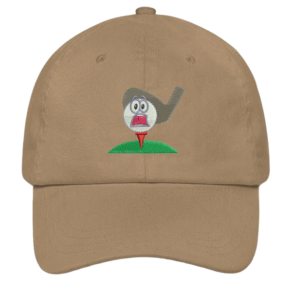 Screaming Golf Ball Dad Hat
