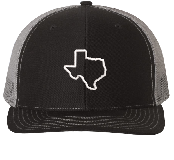 Texas State Outline Trucker Hat