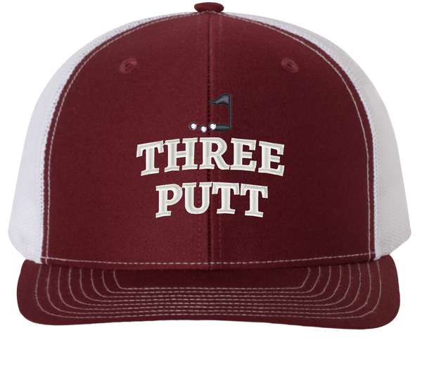 Three Putt Trucker Hat - Golf Hats - HatHub