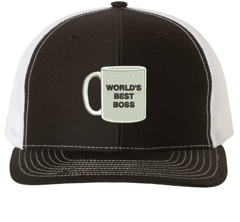 World's Best Boss Trucker Hat - The Office Hats - HatHub