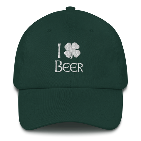 I Clover Beer Dad Hat