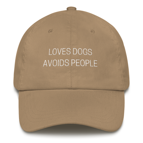 Loves Dogs Avoids People Dad Hat