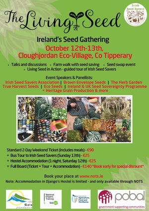 The Living Seed - Ireland's Seed Gathering - October 12th & 13th