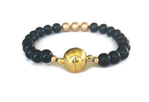 Black Stone Bracelet for Men