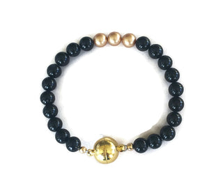 Black Stone Bracelet for Women