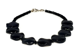 Black Onyx Necklace, Black Statement Jewelry