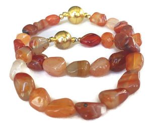 Red Carnelian Bracelet for Him Her