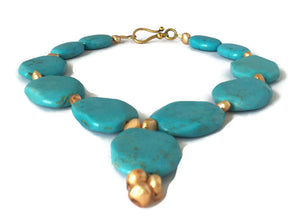Blue Turquoise December Birthstone Necklace