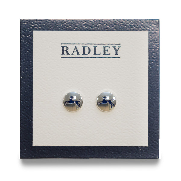 Silver Plated Brass Stud Earrings