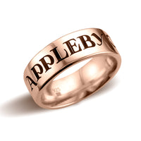 Small Band Ring, Traditional Font