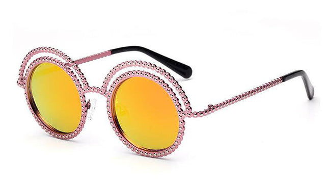 lunettes de soleil Strass Queen Orange