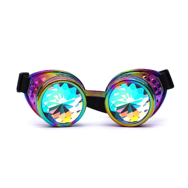 Lunettes Kaleidoscope Steampunk Ronde