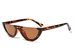 lunettes de soleil half moon party marron