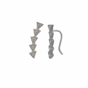 Triangle Ear Climbers - Spear and Stone
