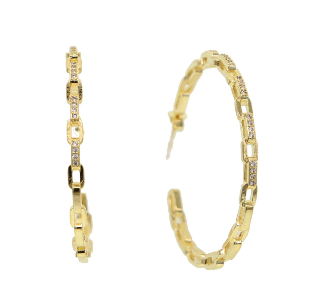 Parker Chain Link Hoops - Spear and Stone