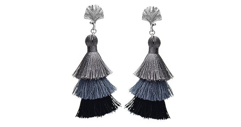 Whispering Tassel Drop Earrings - Spear and Stone