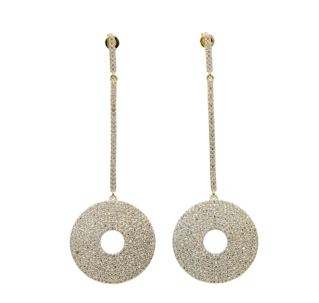 Jasmin Disk Earrings - Spear and Stone
