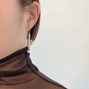 Silhouette Gold Drop Earrings - Spear and Stone
