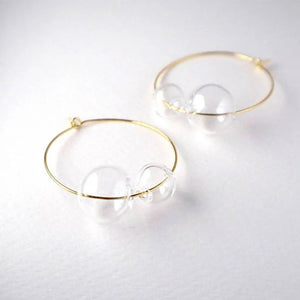 Orbit Gold Hoop Earrings - Spear and Stone