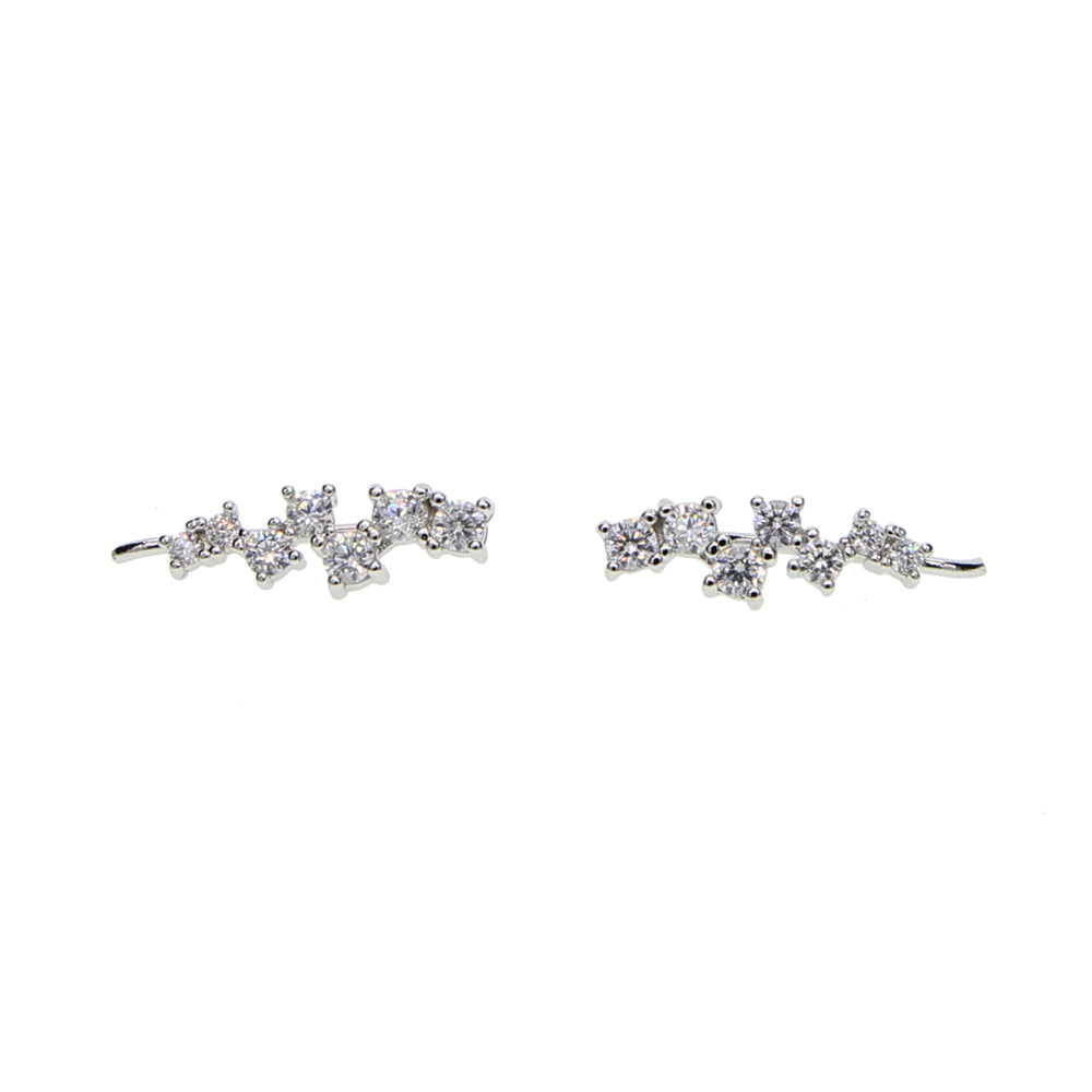 Multi Stone CZ Sterling Silver Climbers - Spear and Stone