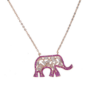 Tribal Elephant Pendant Necklace - Spear and Stone