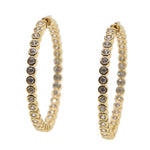 Medium Gold CZ Hoop Earrings - Spear and Stone