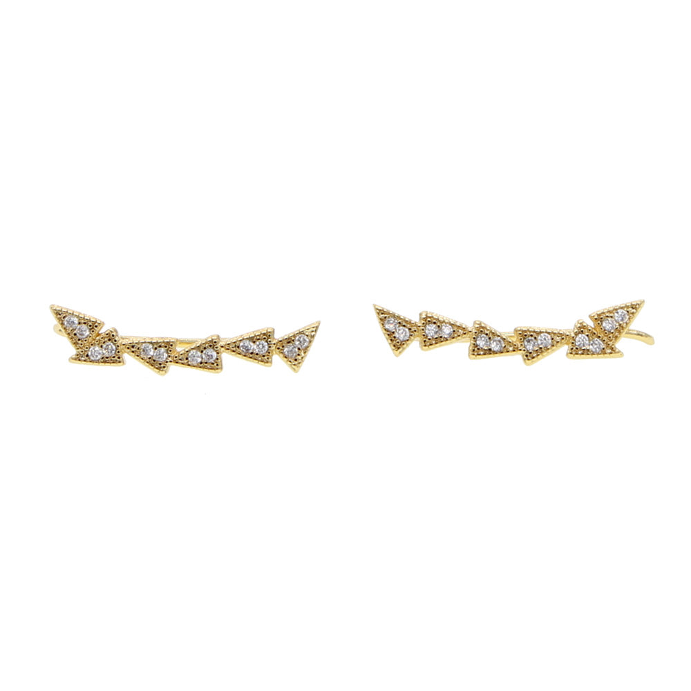 Gold Plated Ear Climbers - Spear and Stone
