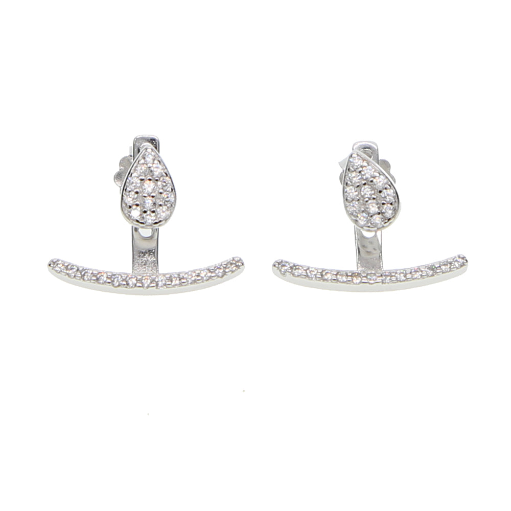Adriana Sterling Silver Ear Jacket - Spear and Stone